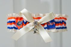 Florida Gators Wedding Garter by LaGartierGarters on Etsy    50 bucks? I bet we could make this for like 7.