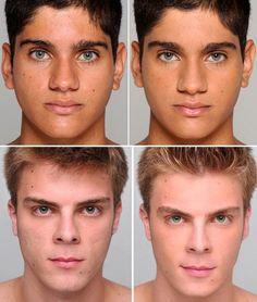 Como usar maquiagem para homem - Passo 1 Eyebrow Grooming, Male Grooming, Natural Man, Natural Make Up, Glamour Makeup, Beauty Makeup, Mud Makeup, Makeup Man, Corrective Makeup