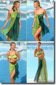 The Stir-The Pareo: A Summer Must-Have Roupas Fitnes, Fairy Dress, Beach Pool, Scarf Styles, Diy Clothes, Convertible Clothing, Vestido Convertible, Swim Cover, Beach Cover Ups