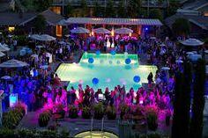 Resultado de imagem para decoração pool party night