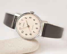 Minimalist women's wristwatch  small watch her  retro by 4Rooms