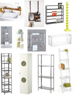 love ideas for innovative storage and these are good for budget and renters in