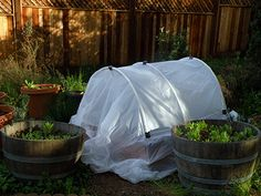 Seasonal Eating: DIY Square Foot Garden (SFG): Making a Hoop House