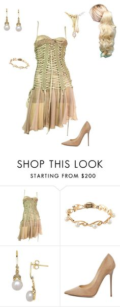 """Annie's Outfit for the press Release"" by thesassystewart on Polyvore featuring Dolce&Gabbana, Mikimoto, Lord & Taylor and Jimmy Choo"
