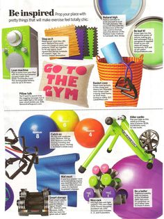 Ideas for a home gym via @SELFmagazine www.self.com