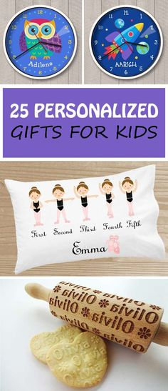 25 Personalized gifts for kids: coloring books, clocks, photo frame, sleeping bags, plates and more. Non-Toy gift ideas for Christmas or birthday. | at Non-Toy GIfts