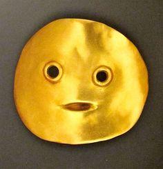"""Max Ernst """"Tete"""" (Head) 23k gold brooch 1959"""