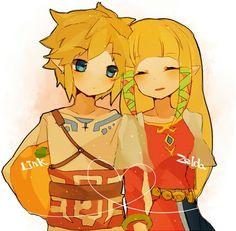 Chibi Skyward Sword Link and Zelda