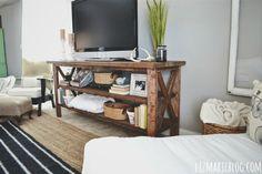 DIY Farmhouse style console/entry table