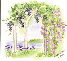 "Art Impressions ""In the Garden"" watercolor. I love Art Imressions stamps and the techniques they teach for watercoloring them. Beautiful!"