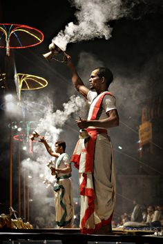 Aarti by the Ganges, Varanasi, India