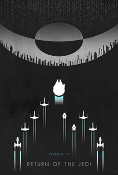 Artist Ed Burczyk is the creator of this cool set of minimalist art inspired by the original Star Wars trilogy.