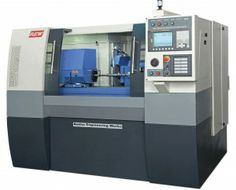 CNC grinding machines have two parts. First part is wheel and its spinning speed can be regulated by handle.