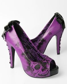 iron fist american nightmare platform heel - purple/ black (vegan)