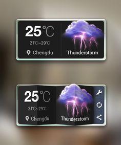 UI Design weather modul
