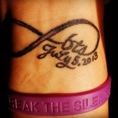 This tattoo is very important to me. I got this tattoo as part of the Break the Silence Against Domestic Violence survivor ink campaign. July 5, 2013 is the day I broke my silence. I told my boss that...