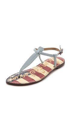 Sam Edelman Gigi Denim Sandals - Heavenly Blue #shoeaholic