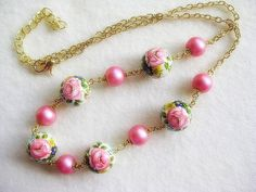 Dainty Pink Flower Choker by TheLadyLindy on Etsy, $25.00