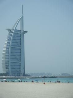 DUBAI, UNITED ARAB EMIRATES. Burj Al Arab. Luxury hotel built on an artificial island off Palm Jumeirah, in the Gulf emirate of Dubai.