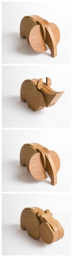 Love these cute wooden animals!: