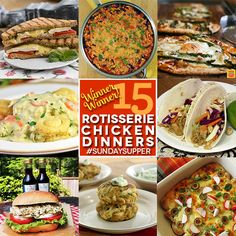 Winner Winner 15 Rotisserie Chicken Dinners. Find these recipes and more at www.sundaysuppermovement.com. #SundaySupper