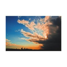 """Red Thunder Gallery Wrap Canvas - (29.85"""" x 18.76"""") $180.95"""
