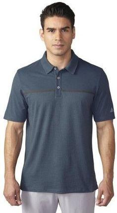 63b772e5588cb adidas 2016 Men s ClimaCool Aeroknit Short Sleeve Polo Shirt (Mineral  Blue Vista Blue -