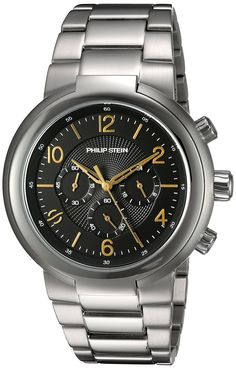 Philip Stein Men's 'Active' Quartz Stainless Steel Casual Watch, Color:Silver-Toned (Model: 32-ABG-SS) *** Learn more by visiting the image link.