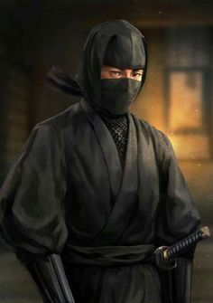 f Rogue Assassin Ninja Robes mask Sword Asian Faction urban City Monastery Temple ©by Rhèñdý Hösttâ lg Ninja Kunst, Arte Ninja, Arte Assassins Creed, Rogue Assassin, Ronin Samurai, Samurai Art, Ninja Japan, Ninja Cats, Geisha Art