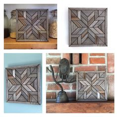 Updates from PaintedPonyBySandy on Etsy Rustic Wall Art, Chic Wall Art, Wood Mosaic, Wood Wall Art, Grey Nursery Decor, Nursery Art Grey, Modern Southwest Decor, Reclaimed Wood Wall Art, Reclaimed Wood Wall