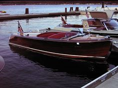 Vintage wooden boat. Oh, how I want one!