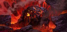 Firelands by UnidColor on DeviantArt Concept Draw, Game Concept Art, Dark Fantasy, Fantasy Art, Dragons, Cg Art, Environmental Art, Fantasy Characters, Epic Characters