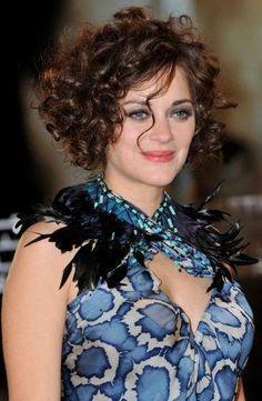 Marion Cotillard Short Curly Hair Style, Photo of Marion Cotillard short cur