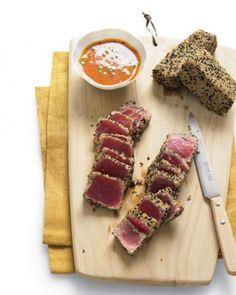 "See the ""Sesame Seared Tuna with Ginger-Carrot Dipping Sauce"" in our Asian Appetizers gallery"