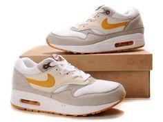 Tanie Nike Air Max 1 Męskie Obuwie Pomarańczowy Beżowy Biały Online Online - butymeskienike.com