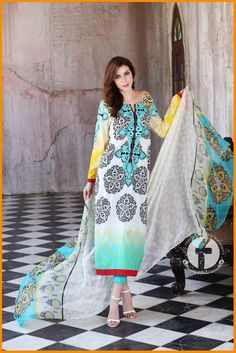 Firdous Embroidered Chiffon Summer Collection 2016 With PriceFirdous Embroidered…