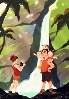My full piece for ! The Nishigori family visiting Pagsanjan Falls, Laguna in the Philippines! 🇵🇭 Hope everyone is having a wonderful spring season so far~ Will be back soon with more updates! You Are The Sun, Family Illustration, Freelance Illustrator, Zine, Art Blog, Childrens Books, Storytelling, Book Art, Animation