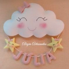 Photos and Videos Baby Crafts, Felt Crafts, Diy And Crafts, Craft Projects, Sewing Projects, Projects To Try, Cloud Party, Baby Shawer, Felt Toys