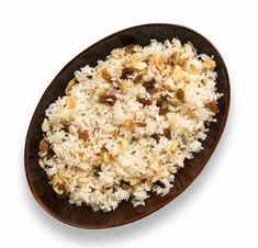 ¿Cómo preparar arroz árabe? Mezcla de aromas y sabores, con pasas, almendras y un toque de canela, (no es dulce, y queda delicioso).