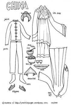 Paper Dolls from China and other countries