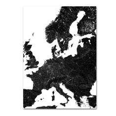 Map poster | Europe Roads  #justmaps #map #poster #mapposter #print #gift #постер #affiche #Plakat #affisch