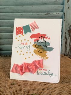 Endless Birthday Wishes Card by Robin Feicht #stampinup #birthday #card