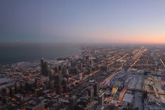 The City of Chicago at Dusk