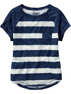 Girls Striped Raglan Tees (Old Navy 5-16)