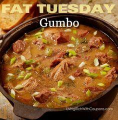 Fat Tuesday Gumbo Recipe - http://www.livingrichwithcoupons.com/2014/03/fat-tuesday-gumbo-recipe.html