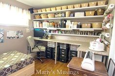 Home Tour from Marty's Musings; Craft Room