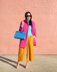 Color Blocking Outfits, Colour Blocking Fashion, Colour Combinations Fashion, Color Combinations For Clothes, Colourful Outfits, Colorful Fashion, Mode Outfits, Fashion Outfits, Fashion Trends