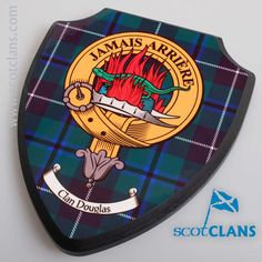 Douglas Clan Crest Wall Plaque. Free worldwide shipping available