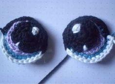 Ojos a Crochet para Amigurumis - Patrón Gratis en Español aquí: http://cricrochet.blogspot.com.es/search/label/Patron%20ojos?m=0