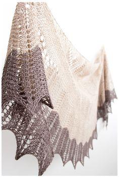 Ravelry: Rosario shawl in Rosy Green Wool organic yarn - knitting pattern by Janina Kallio.